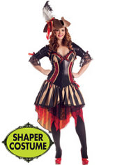 Adult Pirate Body Shaper Costume Plus Size