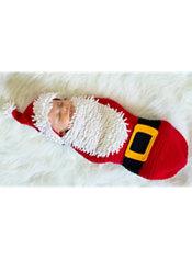 Baby Crochet Cocoon Santa Baby Costume