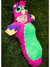 Baby Crochet Cocoon Owl Costume