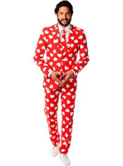 Adult Mr. Lover Heart Print Suit