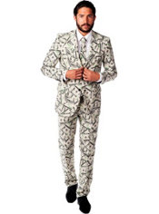 Adult Cashanova Money Print Suit