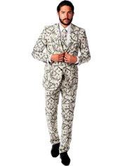 Adult Cashanova Money Print Suit