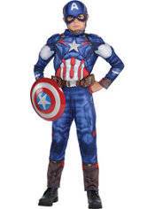 Boys Small Captain America Muscle Costume - Avengers: Age of Ultron