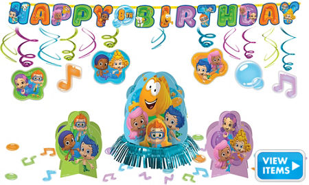 Bubble guppies party supplies girls party themes girls birthday birthday party supplies - Bubble guppies birthday banner template ...