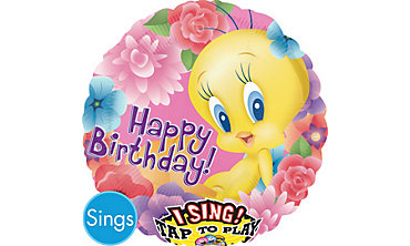 Foil Tweety Singing Balloon 28in