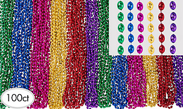 Multicolor Bead Necklaces 100ct