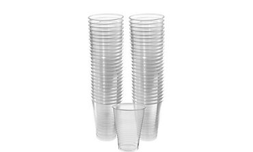 BOGO CLEAR Plastic Cups 50ct