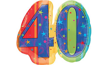 A Year to Celebrate 40th Birthday Foil Balloon 26in