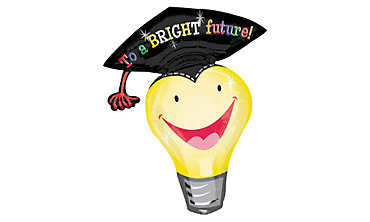 Foil Light Bulb Graduation Balloon 34in