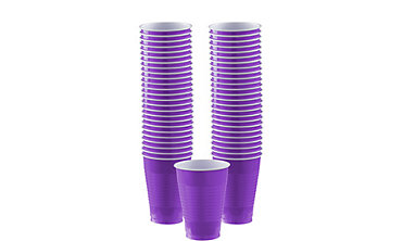 Purple Plastic Cups 12oz 50ct
