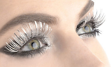 White & Silver False Eyelashes