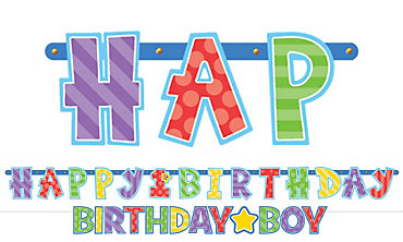 Boy 1st Birthday Banners 2ct
