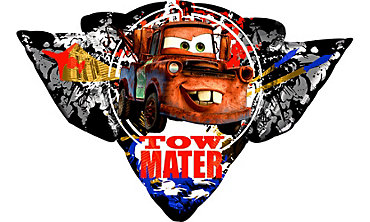 Foil Cars Tow Mater Balloon 33in x 23in
