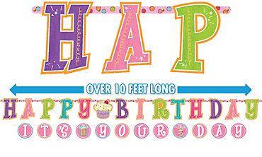 Sweet Stuff Birthday Banners 2ct