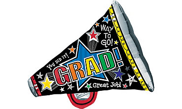 Foil Megaphone Graduation Balloon