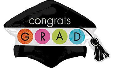 Foil Colorful Commencement Graduation Balloon