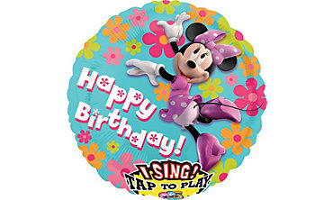 Foil Minnie Mouse Happy Birthday Singing Balloon 28in