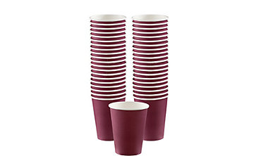 Berry Paper Coffee Cups 12oz 40ct
