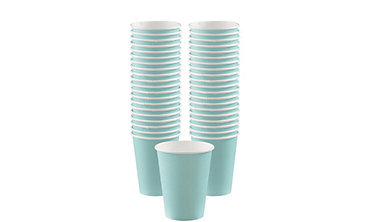 Robin's Egg Blue Paper Coffee Cups 12oz 40ct