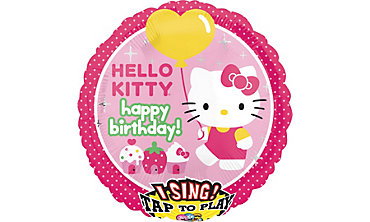 Foil Hello Kitty Singing Balloon 28in
