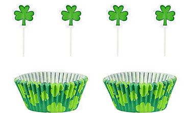 St. Patrick's Day Shamrock Cupcake Decorating Kit