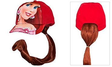 Child Ariel Baseball Hat with Ponytail