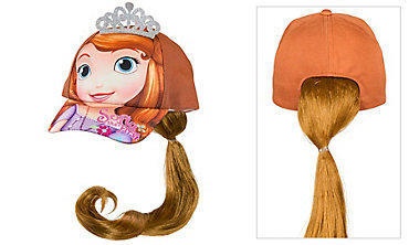 Child Sofia the First Baseball Hat with Ponytail