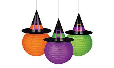 Witch Hat Paper Lanterns 3ct