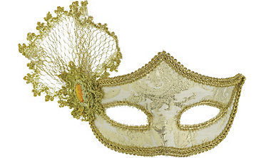 Gold Parisian Masquerade Mask