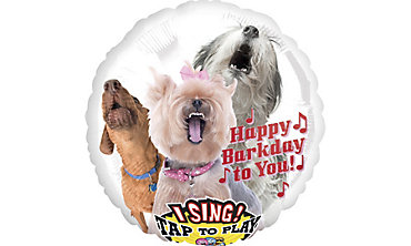 Happy Birthday Dog Balloon - Singing