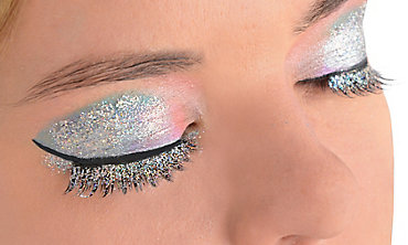 Silver Glitter False Eyelashes