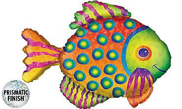 Foil Prismatic Tropical Fish Balloon