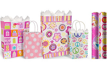 Girls Birthday Gift Bags & Gift Wrap