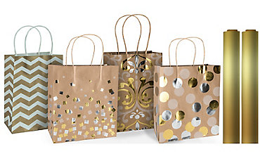 Gold Gift Bags & Wrap