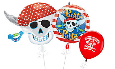 Pirate's Treasure Themed Balloons