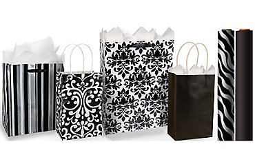 Black Gift Bags & Wrap