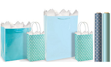 Blue Gift Bags & Wrap