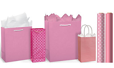 Pink Gift Bags & Wrap
