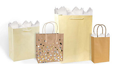 Cream Gift Bags & Wrap