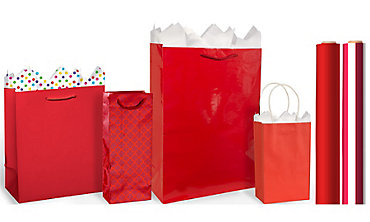 Red Gift Bags & Wrap
