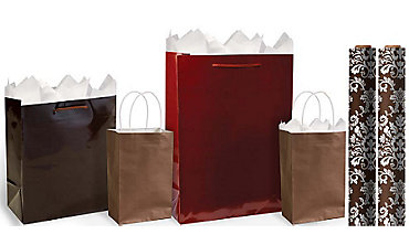 Brown Gift Bags & Gift Wrap