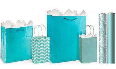 Robin's Egg Blue Gift Bags & Wrap
