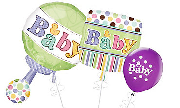 Tiny Bundle Baby Shower Balloons