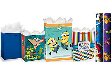 Boys Birthday Gift Bags & Gift Wrap