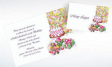Custom Birthday Still Life Invitations & Thank You Notes