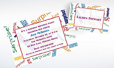 Custom Surprise Fonts Invitations & Thank You Notes