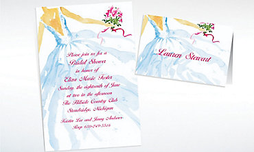 Custom Fashion Bridal Gown Wedding Invitations & Thank You Notes