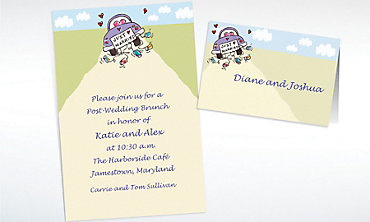 Custom Just Married Wedding Invitations & Thank You Notes