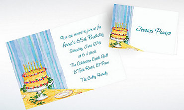 Custom Still Life Birthday Invitations & Thank You Notes