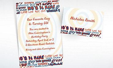 Custom He's da Man! Invitations & Thank You Notes